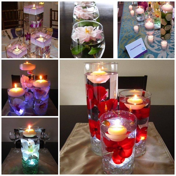 Floating Candles Centerpieces Ideas For Weddings: Birthday Idea: Wodnerful DIY Unique Floating Candle