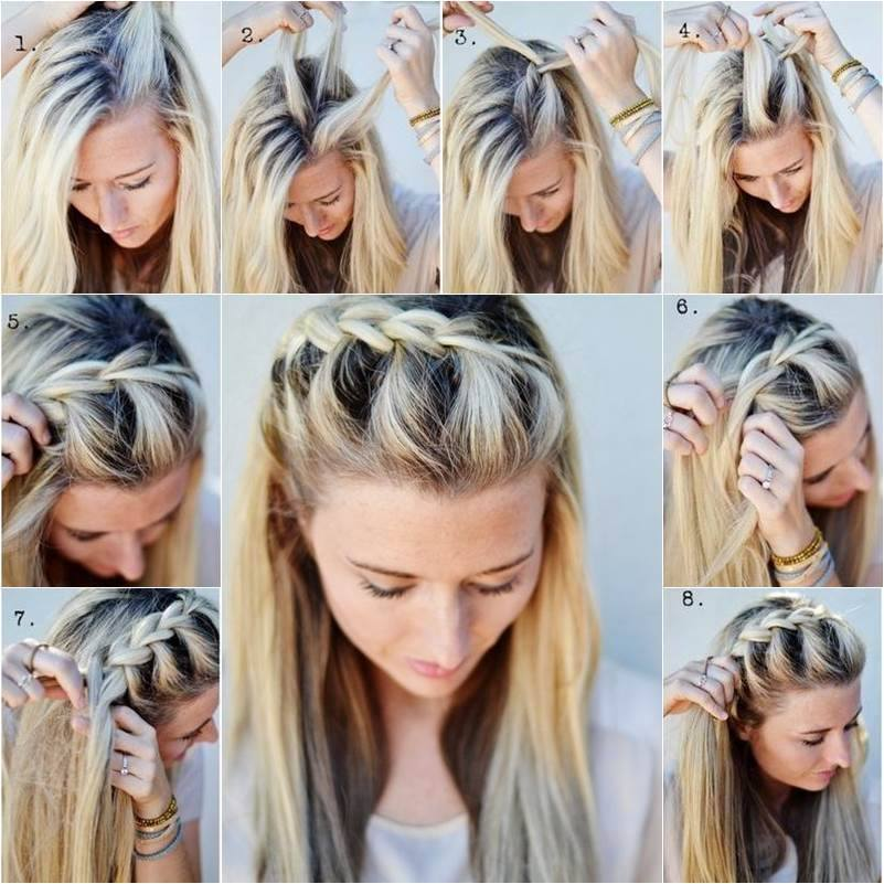 Fashion & Beauty: DIY Half Up Side French Braid Hairstyle