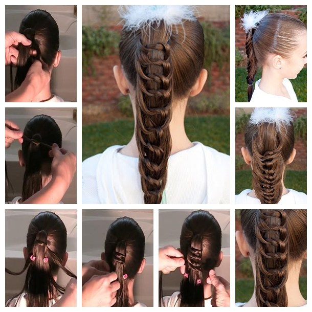 Fashion & beauty: Wonderful DIY Cool Knotted Ponytail Hairstyle - SkillOfKing.Com